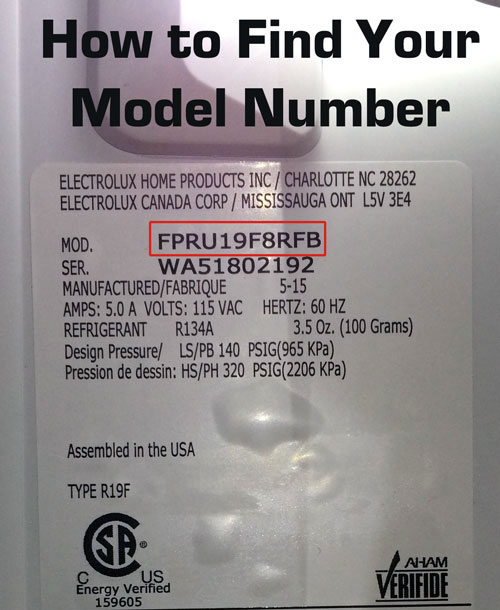 How to find your Electrolux model number. It's located on the back or bottom of your vacuum or steam cleaner.