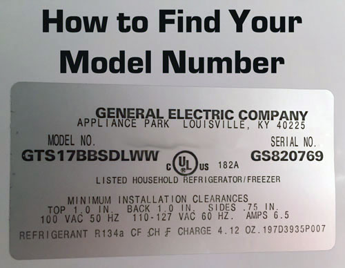 How to find your GE model number. It's located on the back or bottom of your vacuum or steam cleaner.
