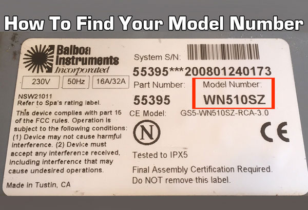 How to find your balboa model number. It's located on the back or bottom of your vacuum or steam cleaner.