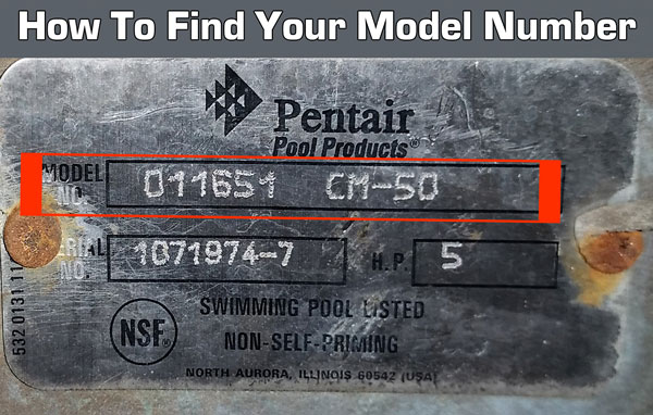 How to find your pentair model number. It's located on the back or bottom of your vacuum or steam cleaner.
