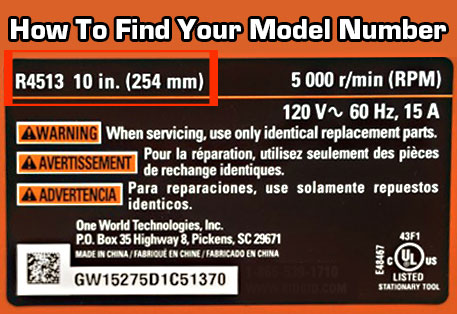 How to find your ridgid model number. It's located on the back or bottom of your vacuum or steam cleaner.