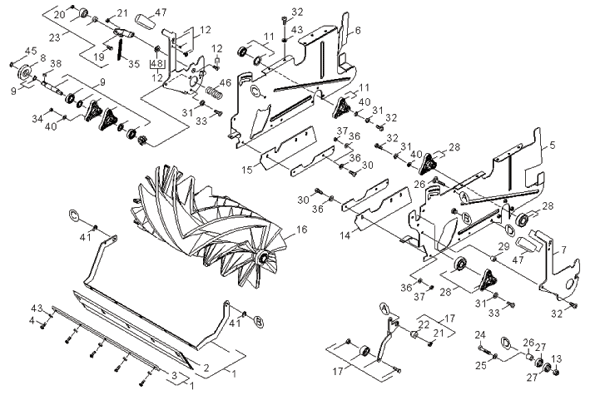 Windsor Radius 300 Repair Parts Diagrams